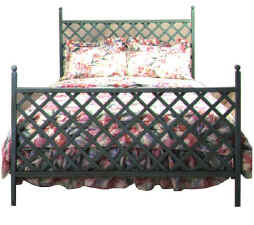 Lattice wrought irion bed
